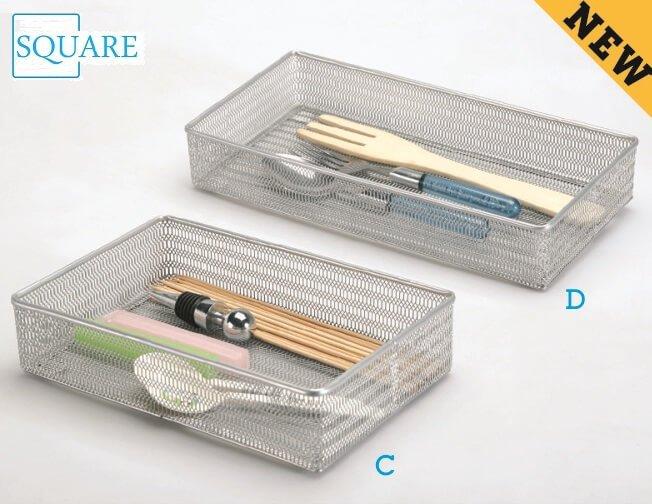 2PC Steel Mesh Drawer Organizer Set