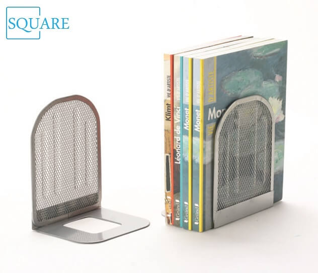 Silver Metal Mesh Bookends