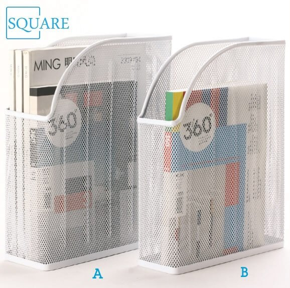 Magazine File Rack Stand Holder Set Wire Mesh