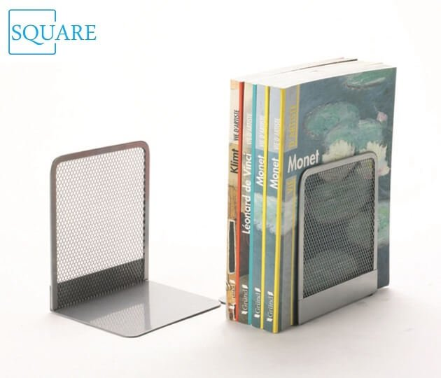 Steel Mesh Silver Bookends