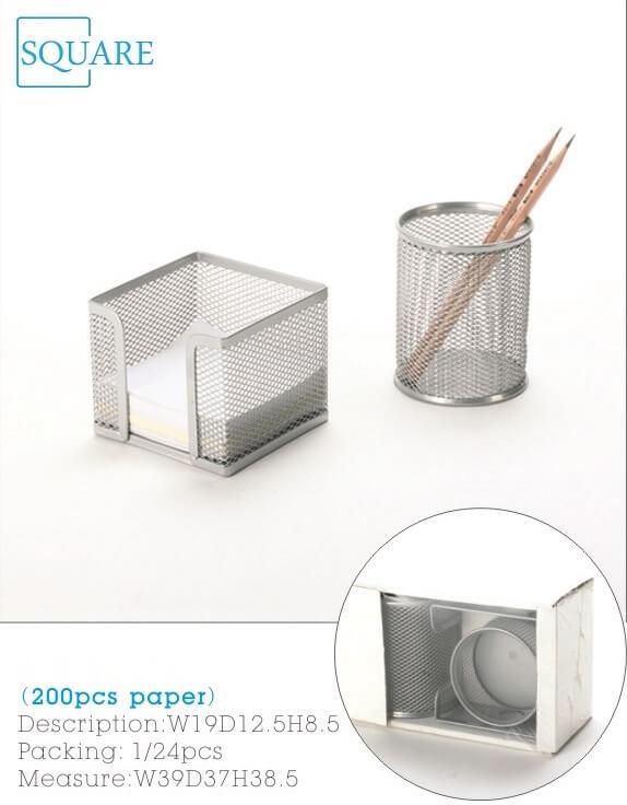 2 Piece Metal Mesh Desk Accessories