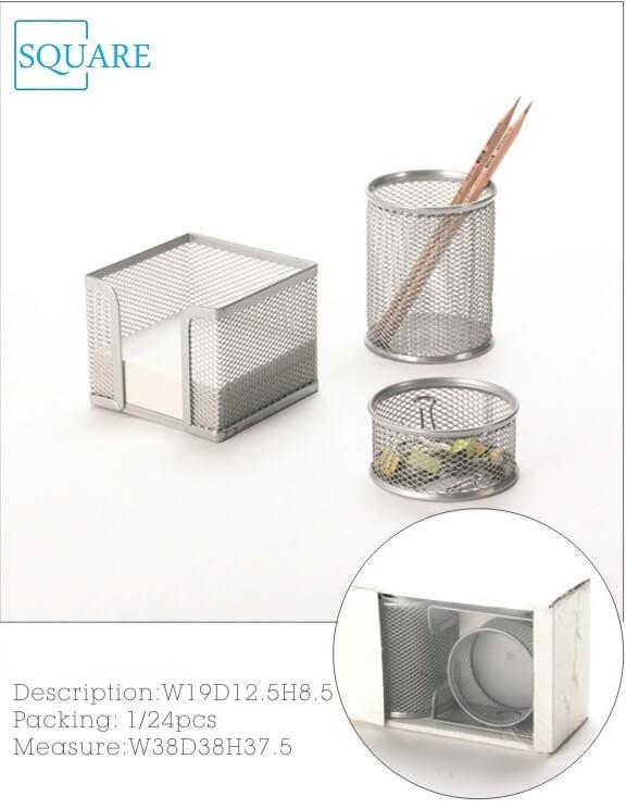 3 PC Desktop Organizer Metal Mesh Office Supplies