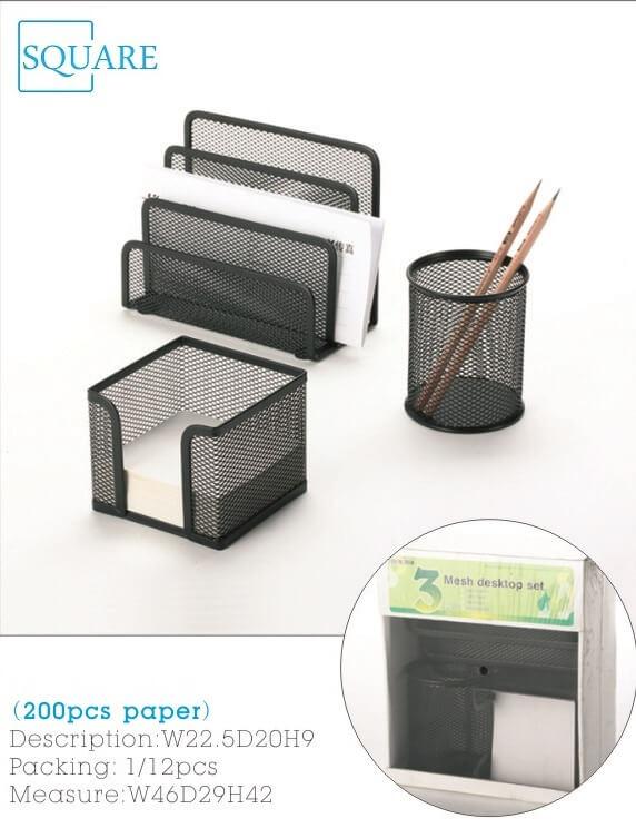 Metal Mesh Desk Organizer Set 3 Pieces