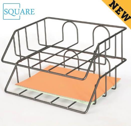 2 Tier Steel Wire Paper Tray Basket