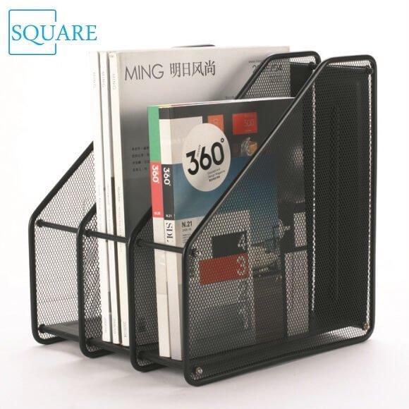Wire Mesh Magazine Holder 3-tier