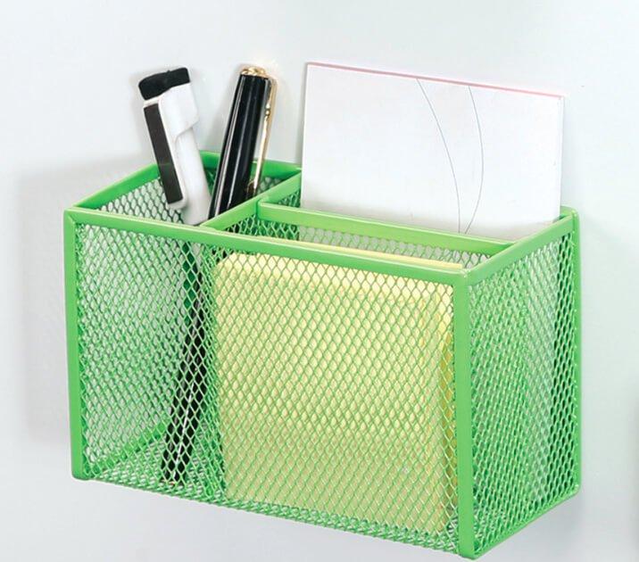 Mesh Magnetic Desk Organizer Memo Holder Pencil Holder
