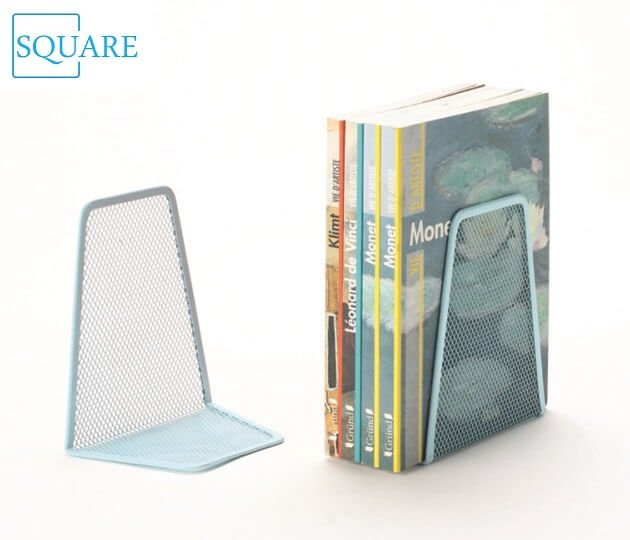 Mesh Metal Silver Bookends