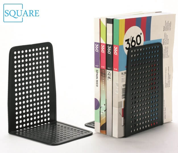 Metal Punched Bookends