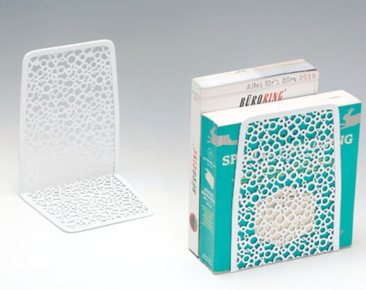 Artistic Punched Metal Bookends