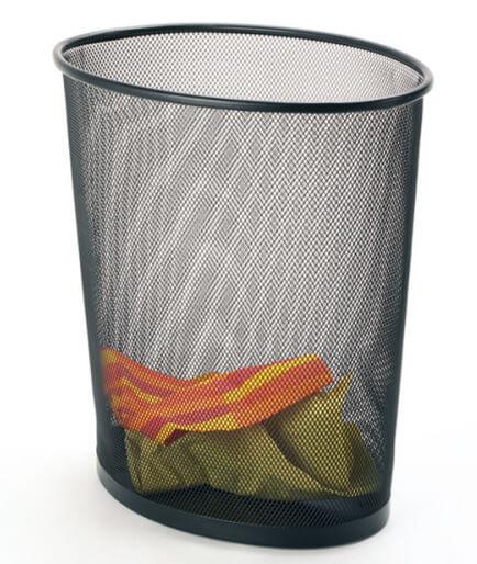 Oval Mesh Waste Basket