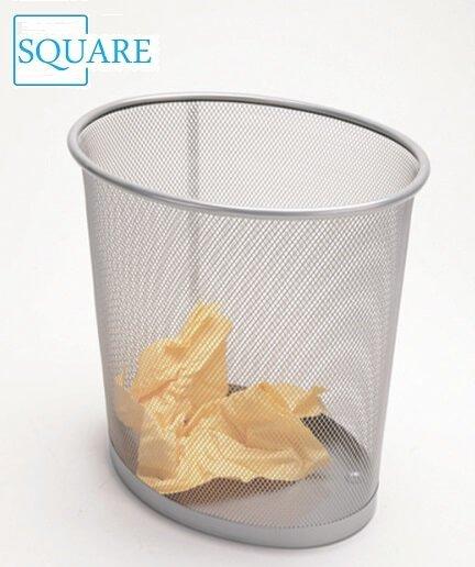 Oval Mesh Wastepaper Bin Trash Can
