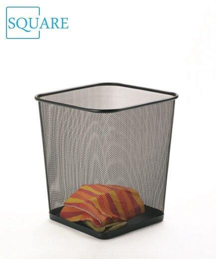 Metal Mesh Waste Paper Bin Basket Dustin Home & Office