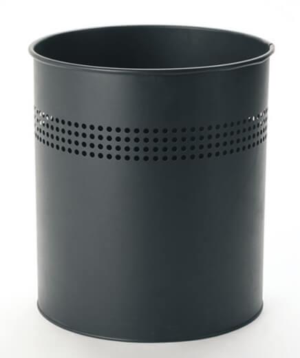 Round Metal Trash Can Wastebasket Garbage Container Bin
