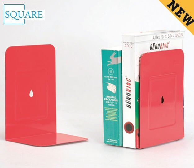 Red Metal Bookends