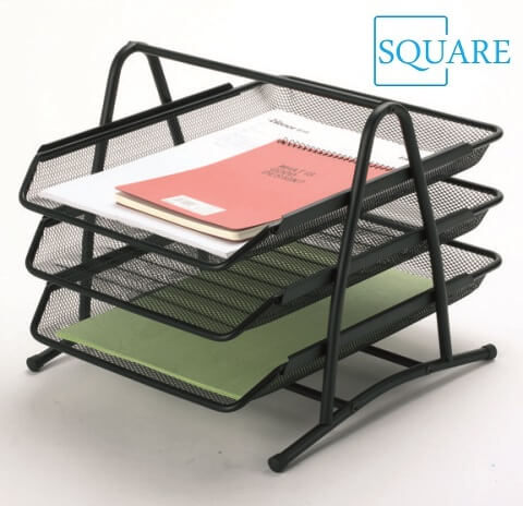 Wire Mesh 3 Tier Letter Document File Tray