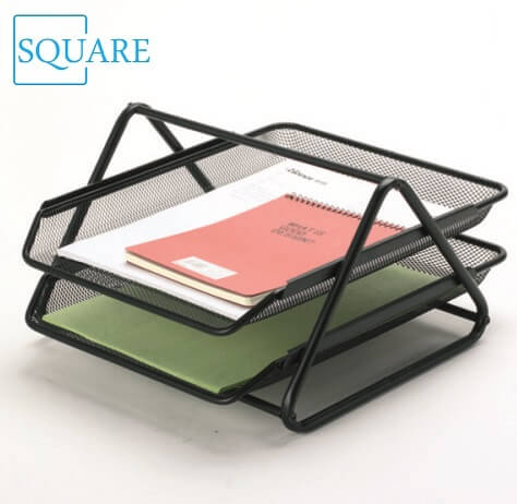 2 Tier Metal Wire Mesh Paper Tray