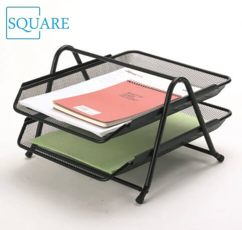 2 Tier Metal Wire Mesh Document Tray