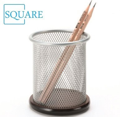 Metal And Wood Pencil Cup
