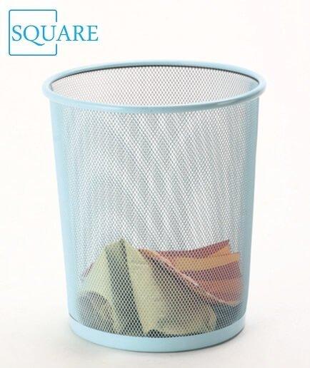 Mesh Metal Waste Paper Basket Dustbin Rubbish Bins