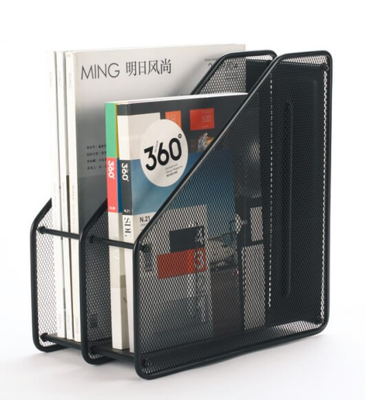 Mesh 2 Tier Magazine File Folder