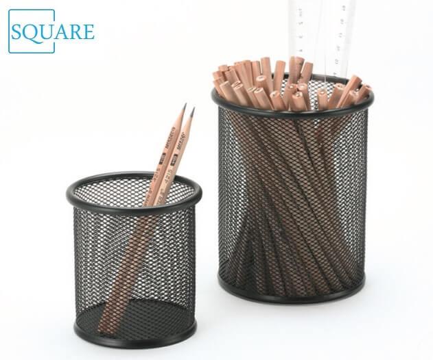 Metal Mesh Pen Pencil Cup Holder Organizer