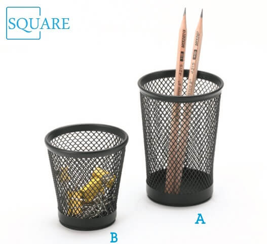 Steel Mesh Pencil Cup Paper Clip Holder