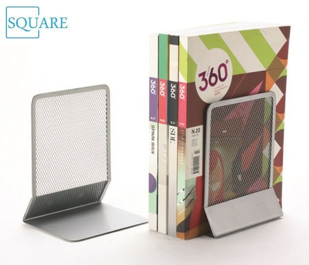 Metal Mesh Silver Bookends