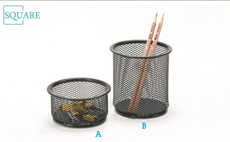 Steel Mesh Pencil Cup Paperclip Holder