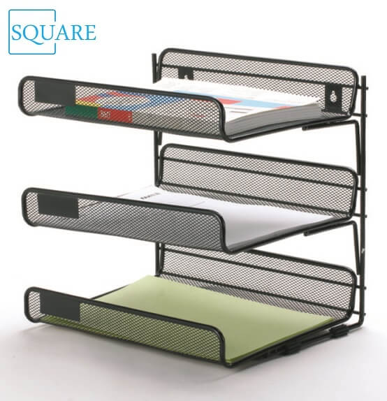 Mesh Stacked 3 Tier Desk Tray
