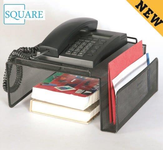 Steel Mesh Telephone Desk Stand Side Pocket File